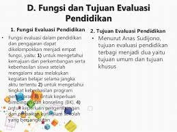 fungsi dan tujuan evaluasi pendidikan