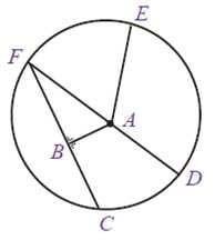 Perhatikan gambar bagian bagian lingkaran berikut.