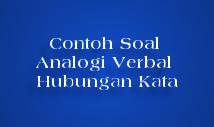 contoh soal analogi verbal tes padanan hubungan kata