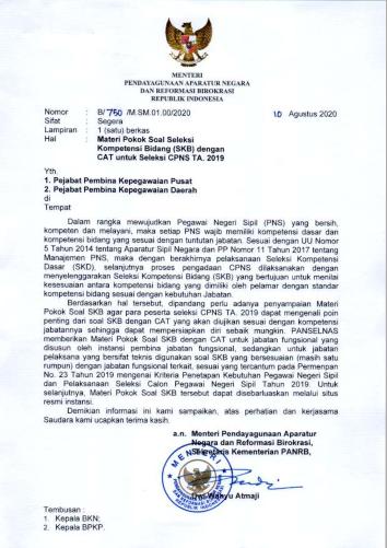 Materi Pokok Soal Seleksi Kompetensi Teknis PPPK