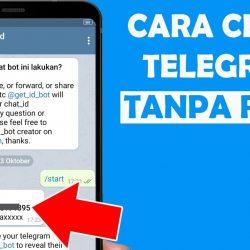 cara melihat id telegram
