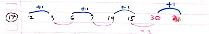 pola bilangan jawaban nomor 17