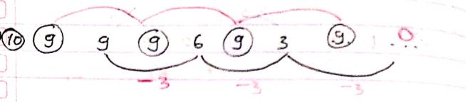 pola deret angka nomor 10