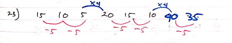 Jawaban pola deret angka
