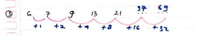 pola deret angka nomor 3