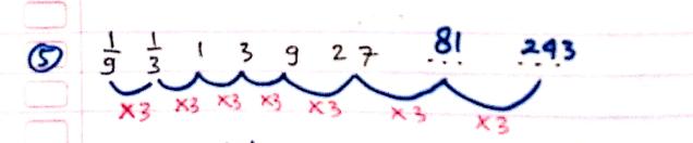 pola deret angka nomor 5
