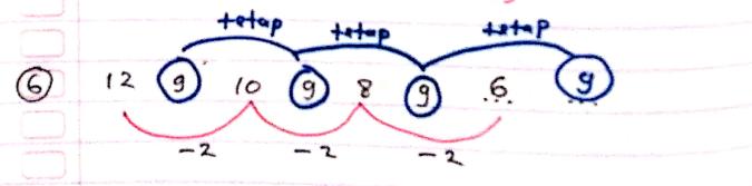 pola deret angka nomor 6