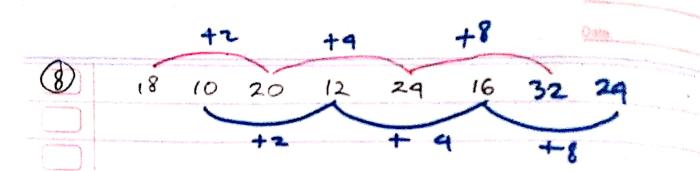 pola deret angka nomor 8
