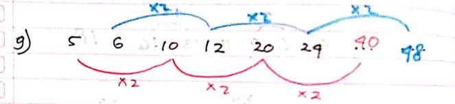 pola deret angka nomor 9