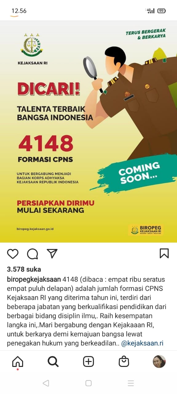 Pengumuman CPNS Kejaksaan 2021