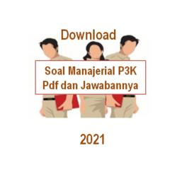 contoh soal manajerial p3k pdf dan jawabannya