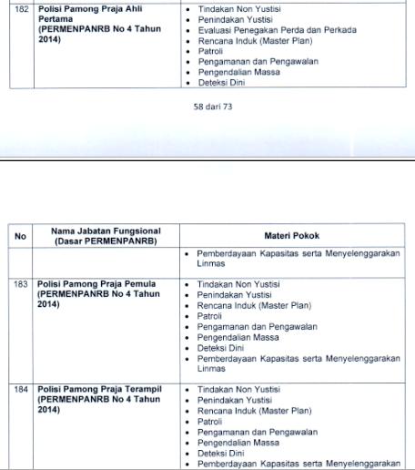Materi SKB Satuan Polisi Pamong Praja (satpol PP) CPNS 2021