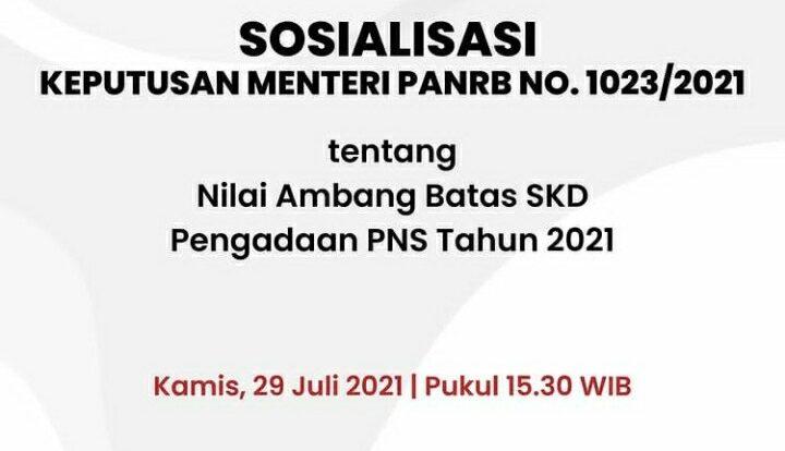 passing grade nilai ambang batas CPNS 2021